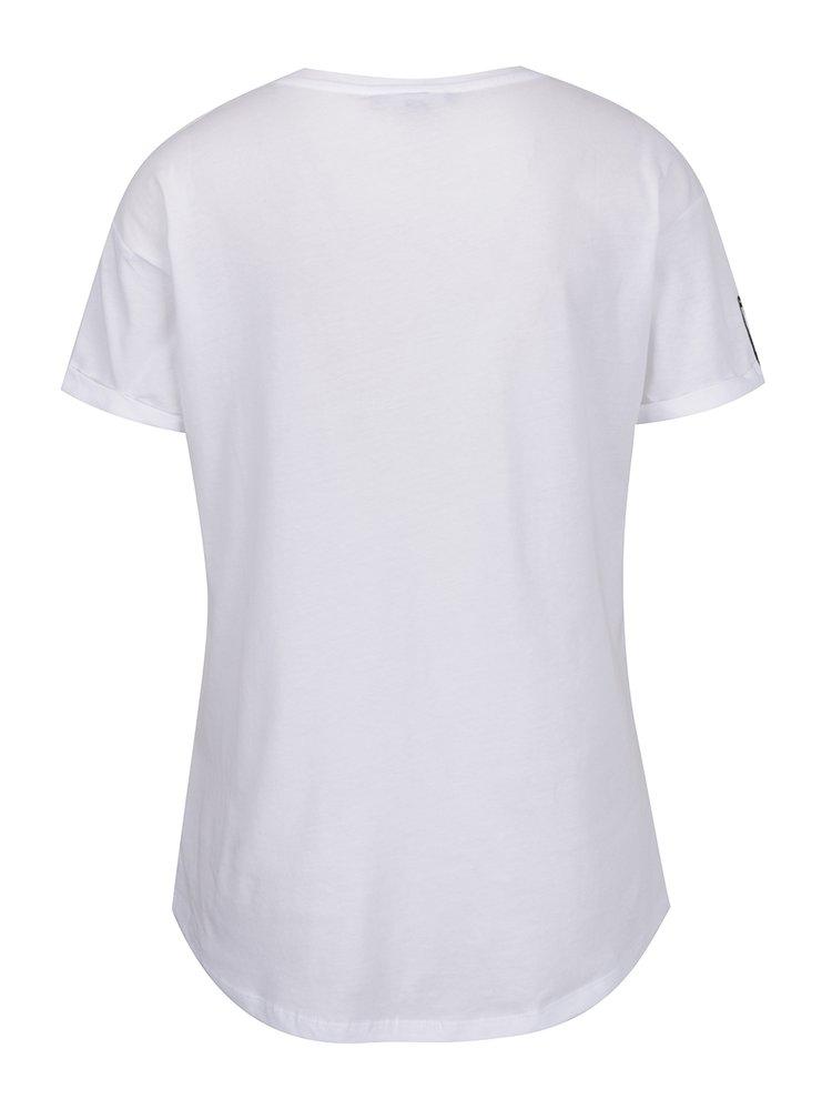 Tricou alb cu buzunar și print TALLY WEiJL