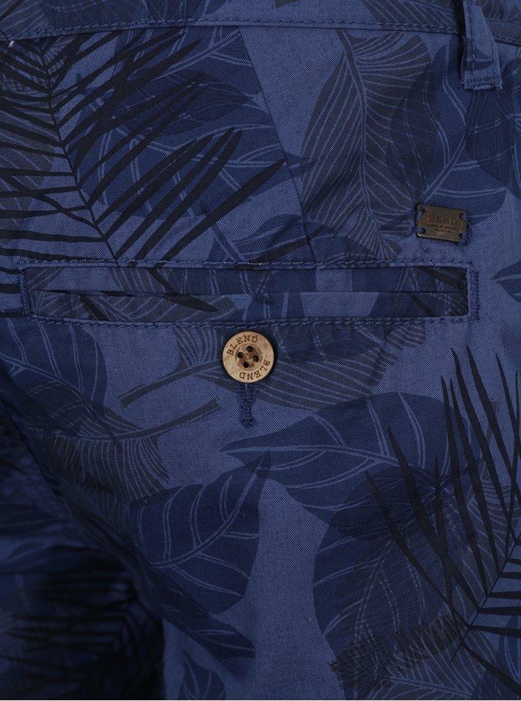Bermude bleumarin cu imprimeu vegetal Blend
