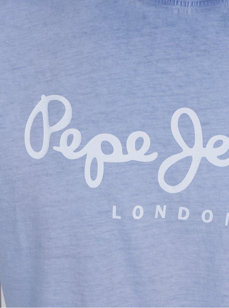 Tricou bleu Pepe Jeans West Sir din bumbac