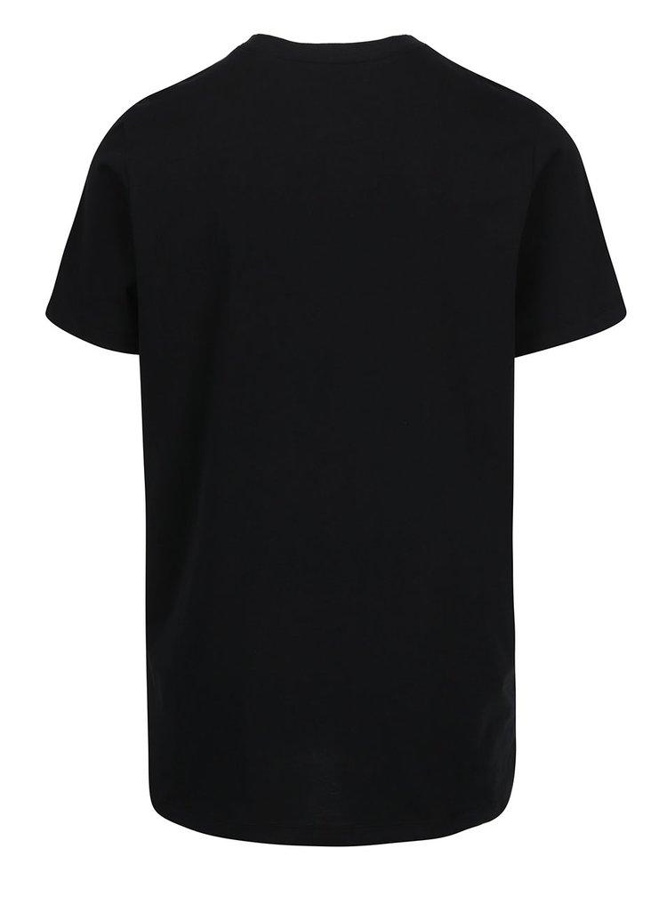 Tricou negru  cu logo Nike Tee