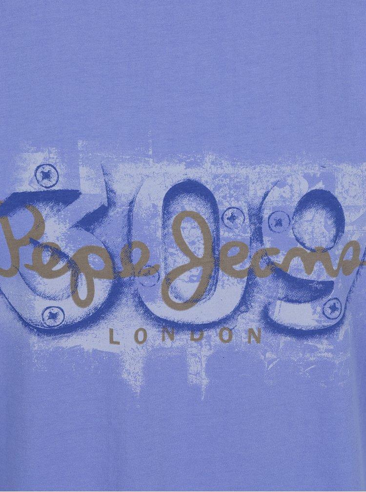 Tricou violet Pepe Jeans Alnus din bumbac