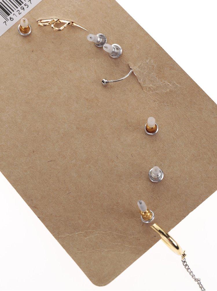 Osm druhů náušnic ve zlaté a stříbrné barvě TALLY WEiJL