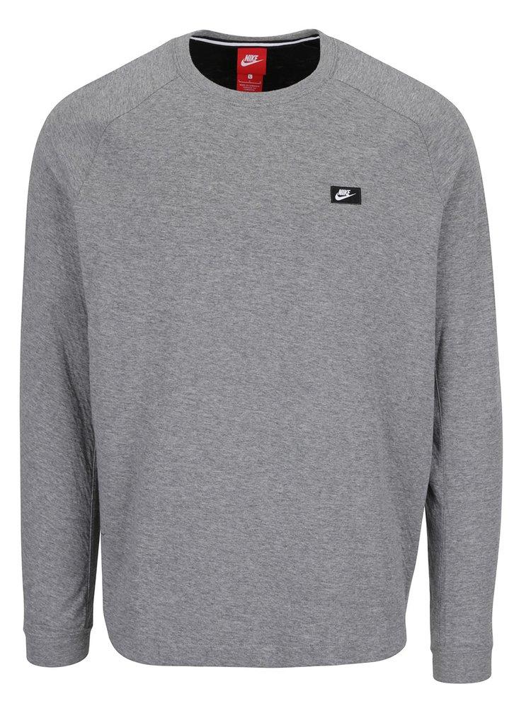 Bluza gri cu detaliu fermoar Nike Modern