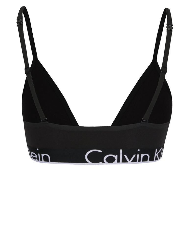 Sutien negru cu print logo Calvin Klein