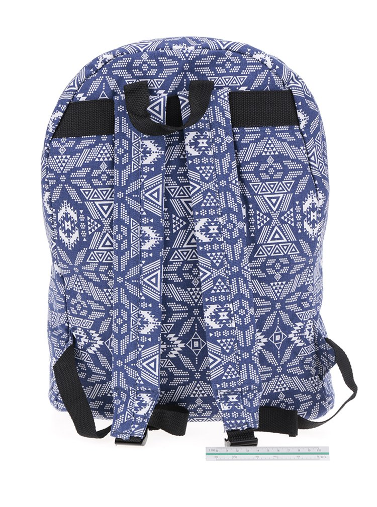 Rucsac albastru ZOOT cu imprimeu de inspirație etnică