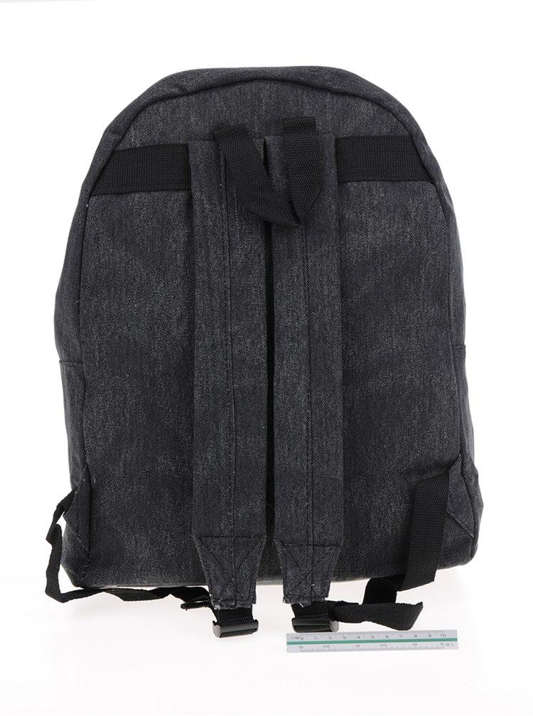Tmavě šedý dámský plátěný džínový batoh ZOOT