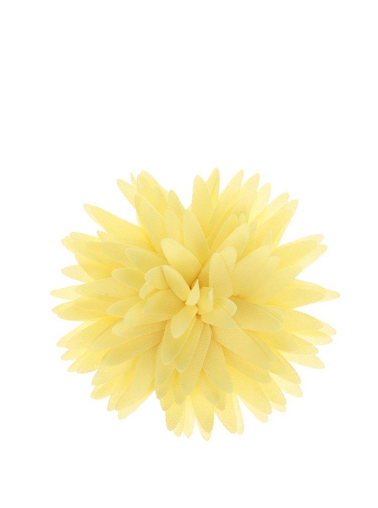 Floare decorativa galbena Ju'sto Giallo din textil