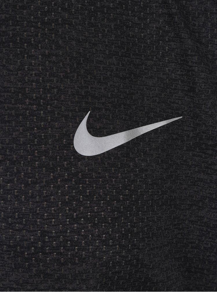 Tricou gri material perforat Nike Miler