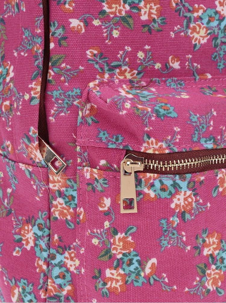 Rucsac roz ZOOT cu imprimeu floral