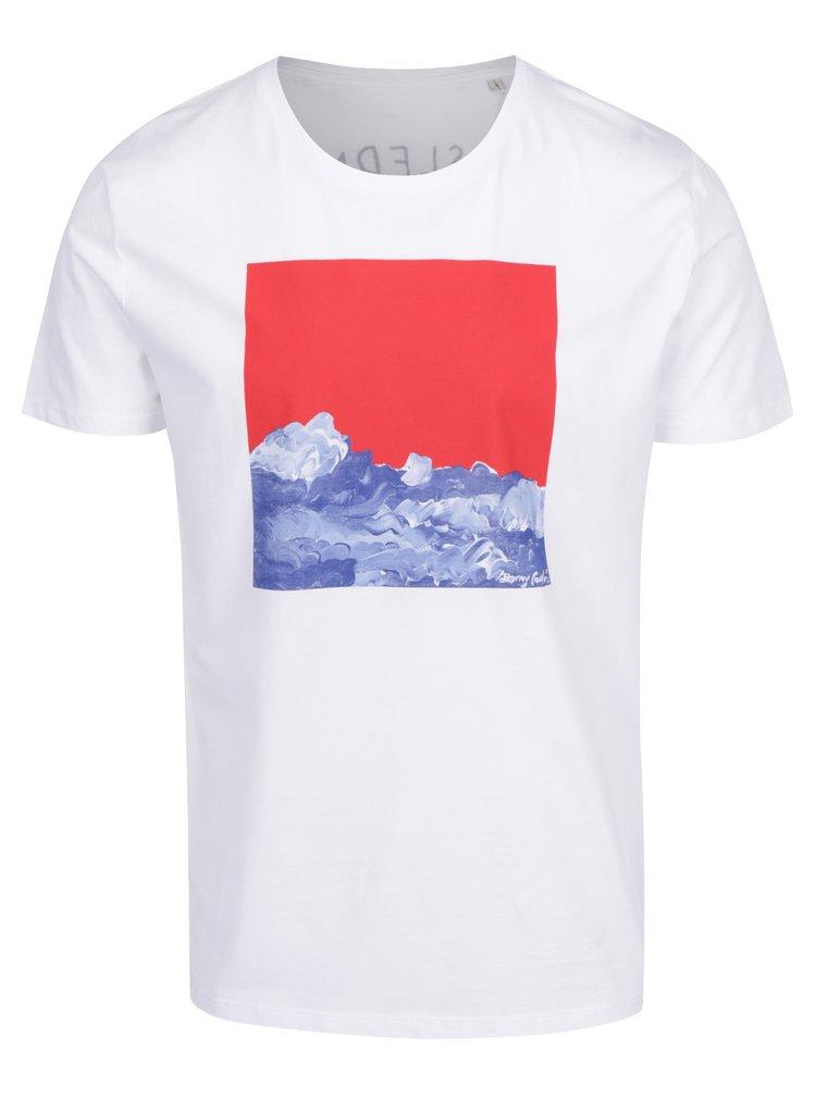 Bílé pánské tričko s potiskem Ben Cristovao - Poslední