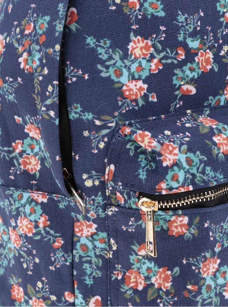 Rucsac albastru inchis ZOOT cu imprimeu floral