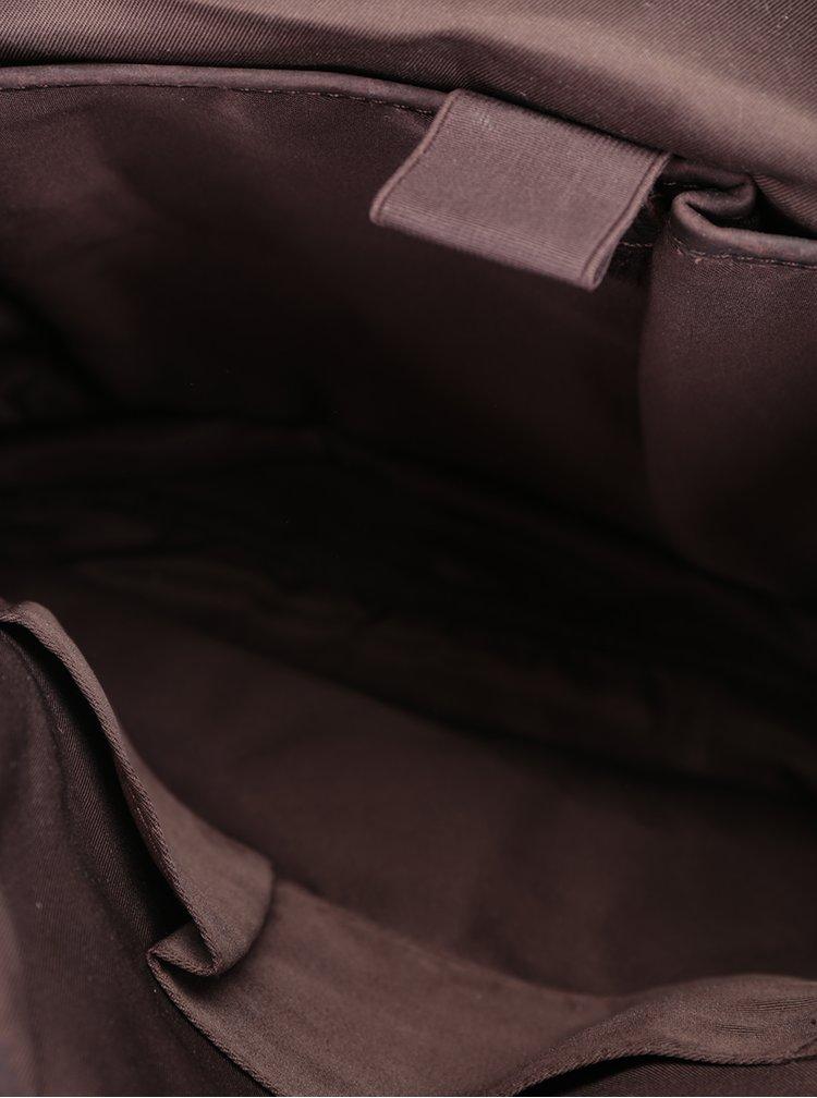 Rucsac roz unisex cu detalii din piele URBAN Bag