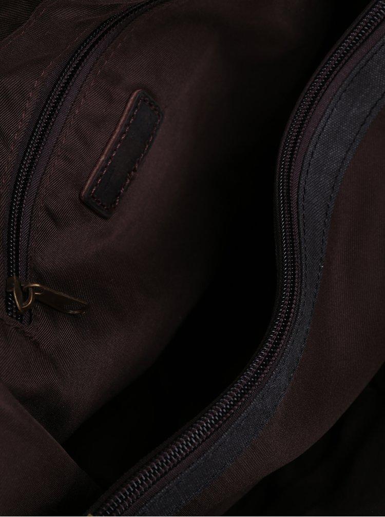 Geanta unisex gri cu detalii din piele Urban Bag