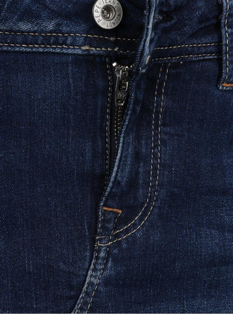 Fusta albastru inchis Pepe Jeans Livia din denim