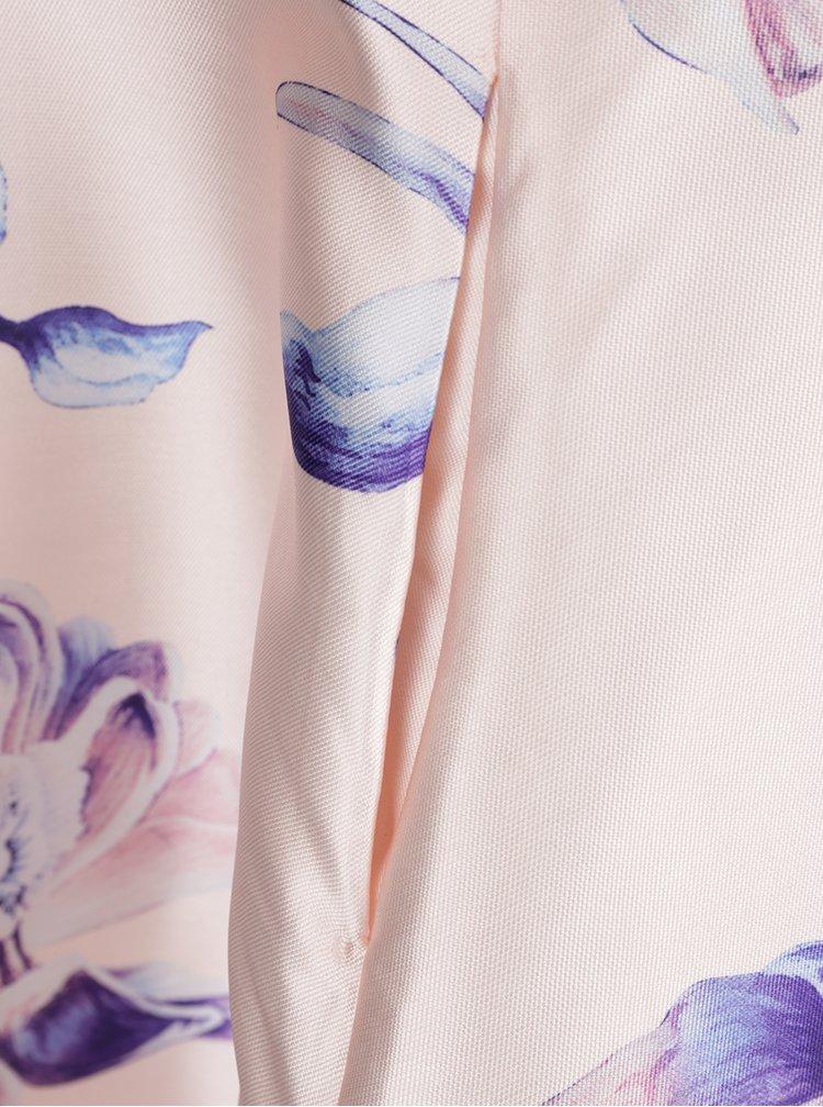 Rochie roz pal AX Paris cu imprimeu floral