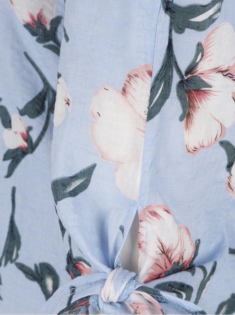 Rochie-camasa bleu AX Paris cu imprimeu floral