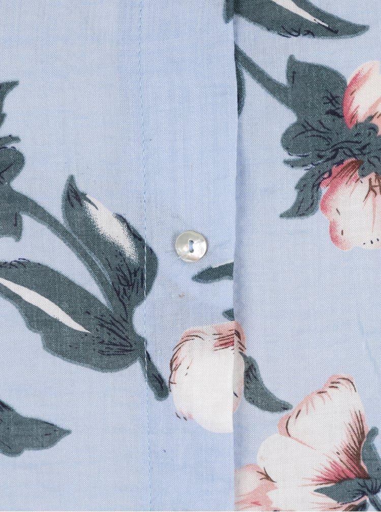 Rochie-cămașă bleu AX Paris cu imprimeu floral