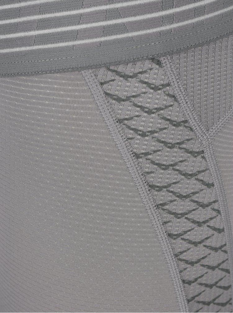Šedé pánské funkční 3/4 legíny Nike Pro Hyber Cool