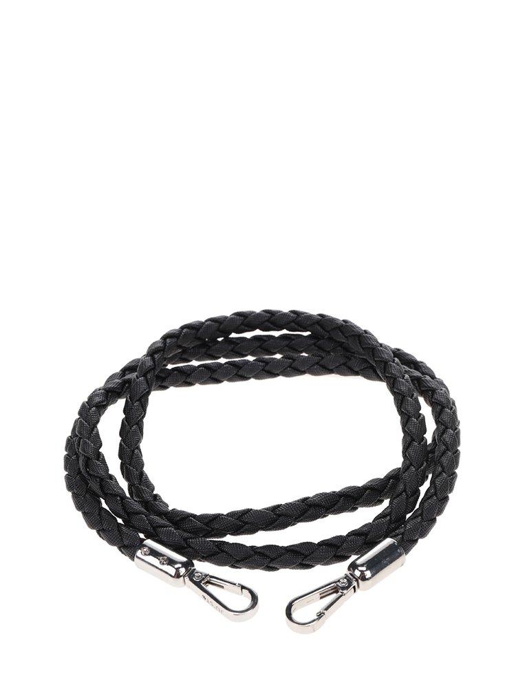 Černý kroucený popruh z ekokůže Ju'sto