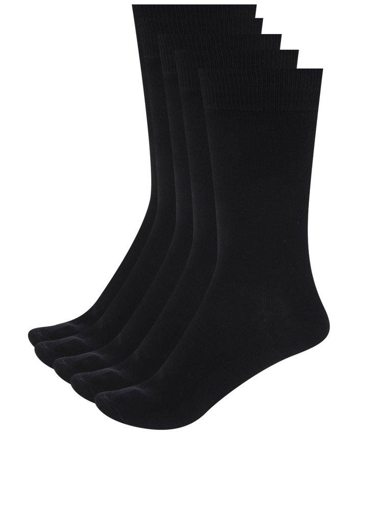 Sada pěti párů ponožek v černé barvě Jack & Jones Jens