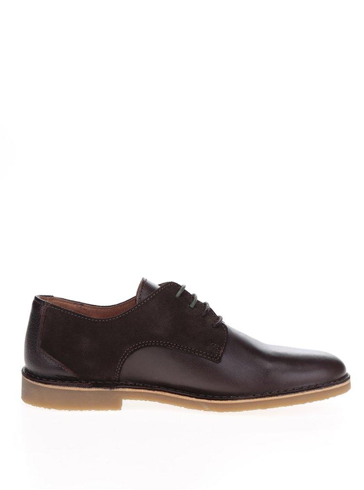 Pantofi maro din piele cu detalii piele intoarsa Selected Homme Royce
