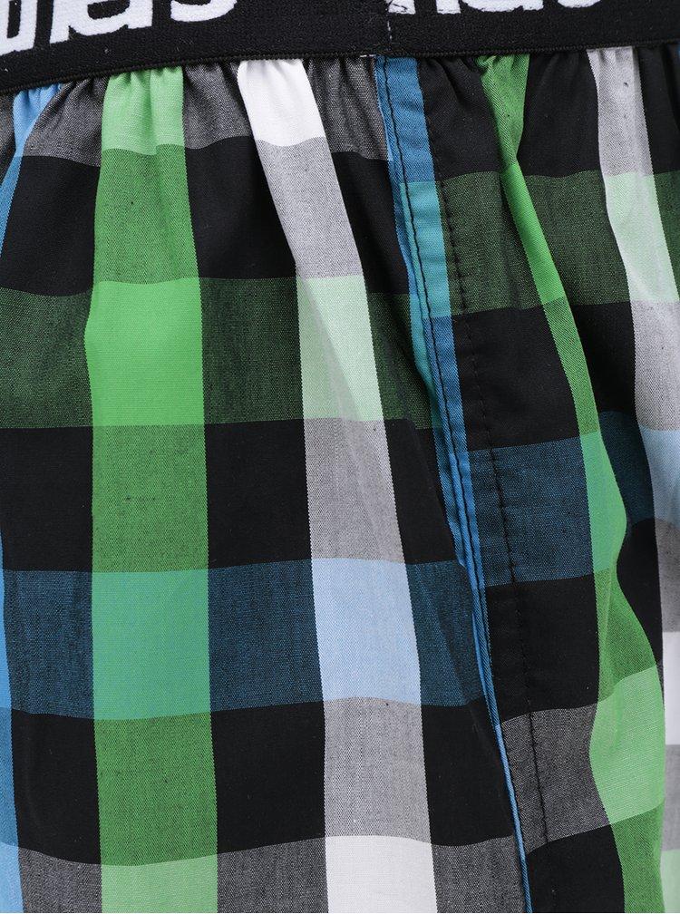 Modro-zelené kostkované trenýrky Horsefeathers Apollo