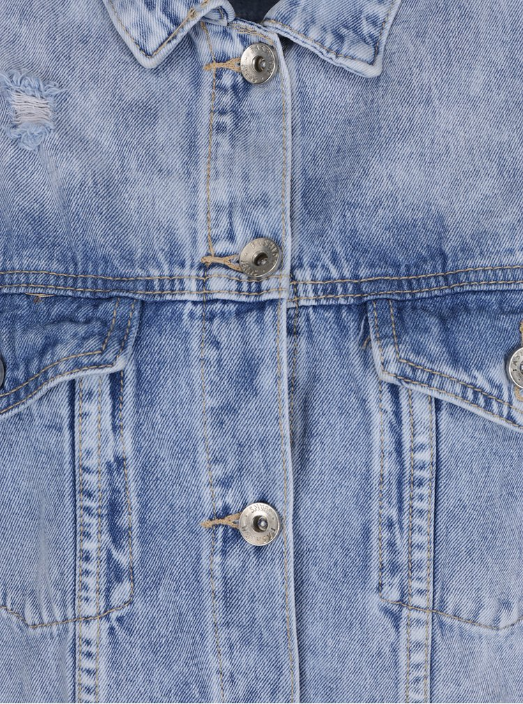 Jacheta lunga albastra  Haily's Sinaly din denim