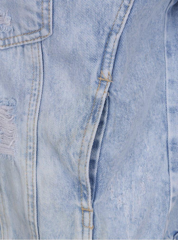 Modrá džinová bunda s korálky Haily's Gina
