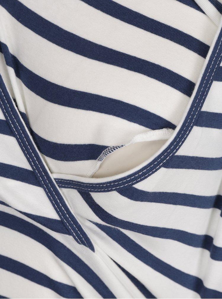 Set 2 tricouri albastru&albastru cu dungi Mama.licious Lea