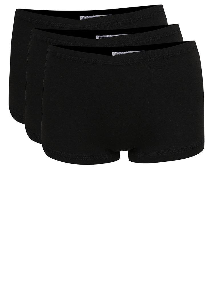 Sada tří holčičích kalhotek v černé barvě name it Tights