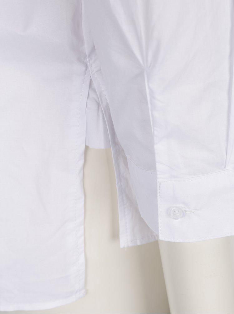 Bílá košile s výšivkou a náprsní kapsou Haily's Ellen