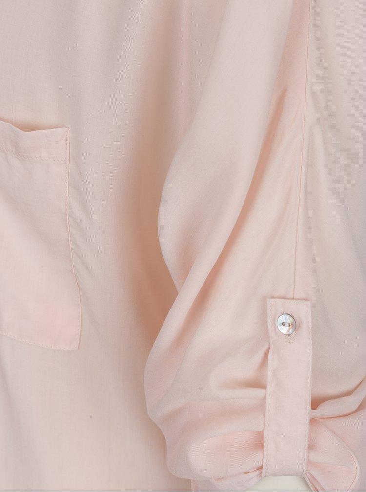 Bluză roz deschis Haily's Florie cu mânecă lungă