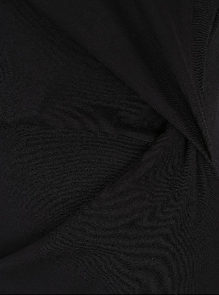 Rochie neagră cu mâneci scurte VERO MODA Hilde