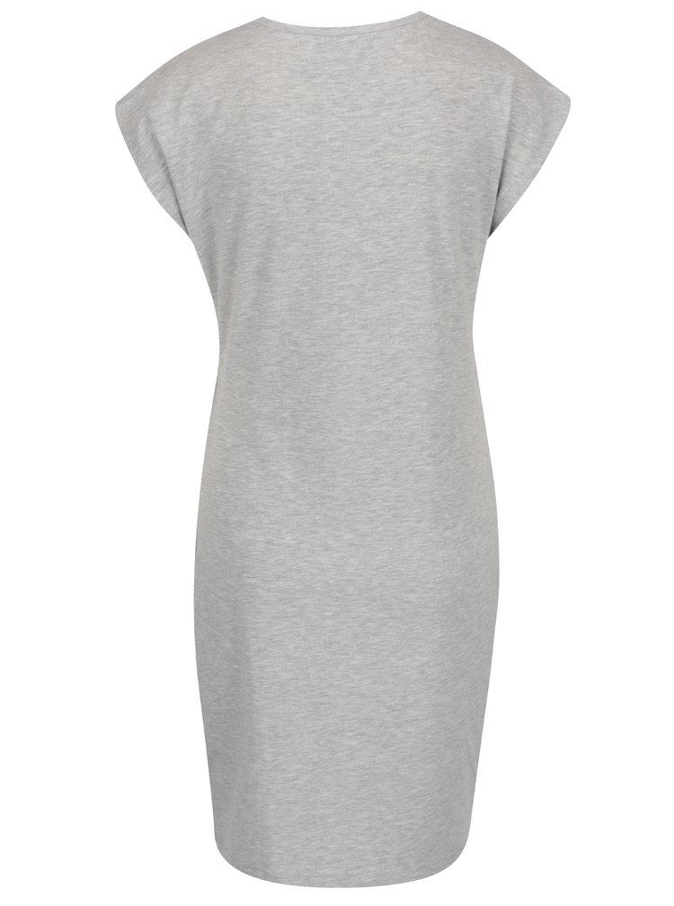 Šedé šaty s řasením na boku VERO MODA Hilde