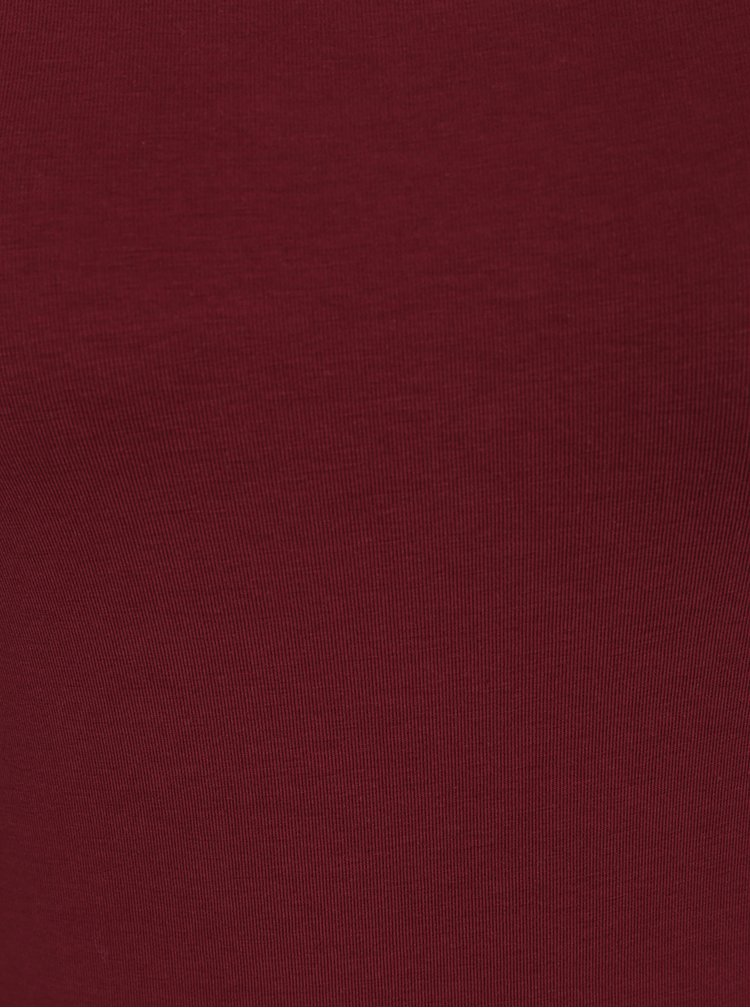 Vínové dlouhé basic tričko s dlouhým rukávem VERO MODA Maxi My