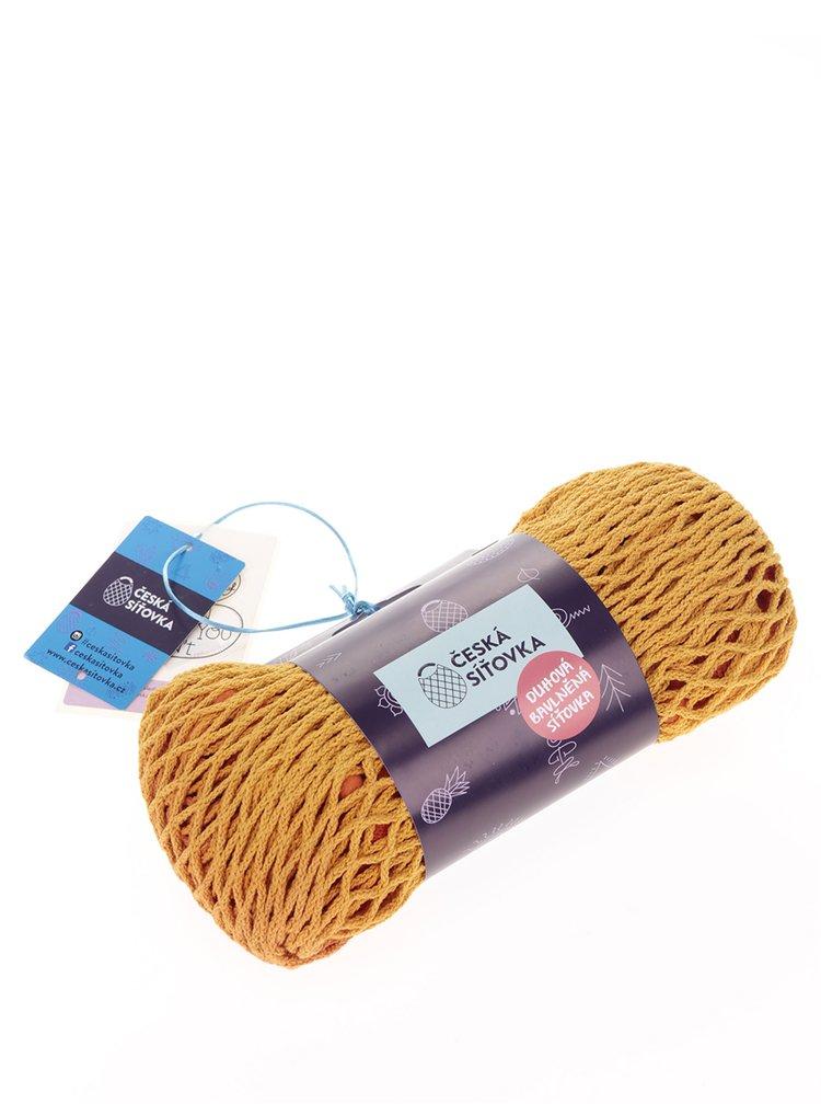 Žluto-oranžová Česká síťovka s bambulkami