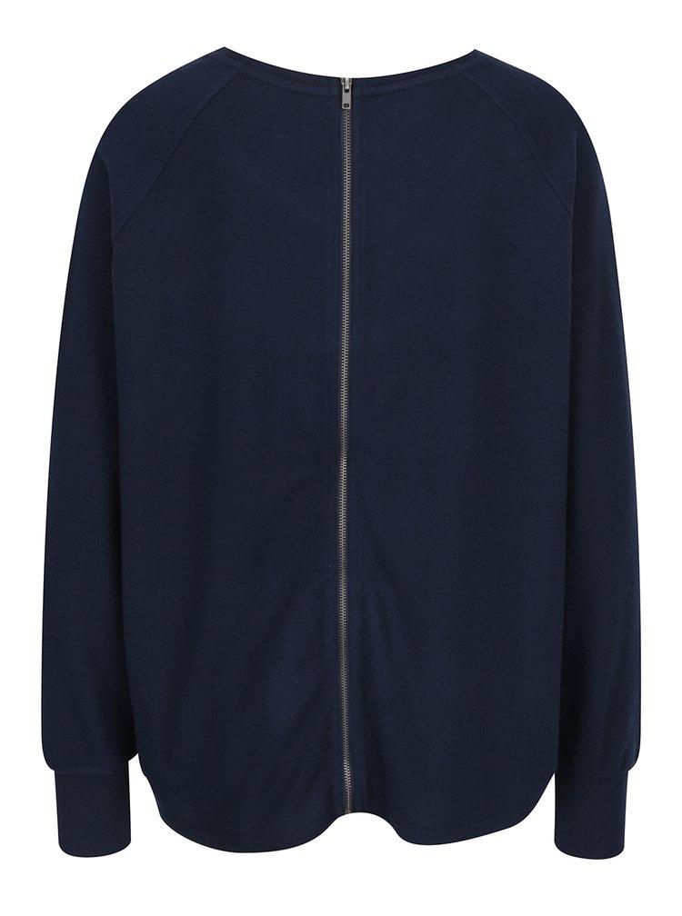 Bluză lejeră bleumarin cu fermoar pe spate Noisy May City