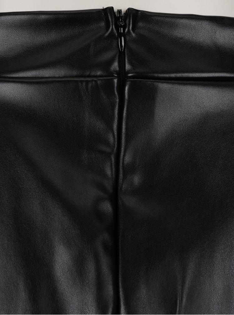 Fustă neagră cu volane din piele sintetică Noisy May Avalia