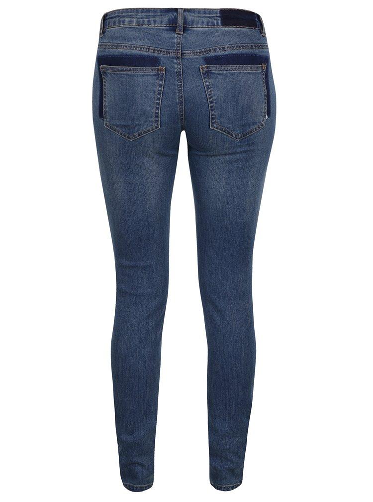 Modré super slim džíny s nízkým pasem Noisy May Eve