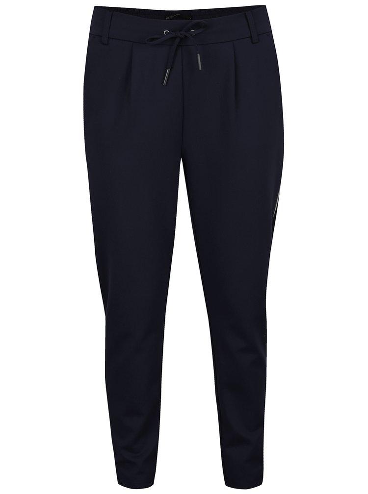 Pantaloni chino bleumarin cu siret in talie ONLY Poptrash