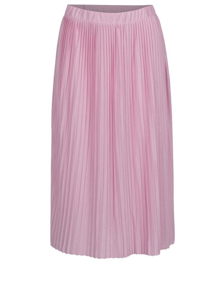 Růžová plisovaná sukně Jacqueline de Yong Dice