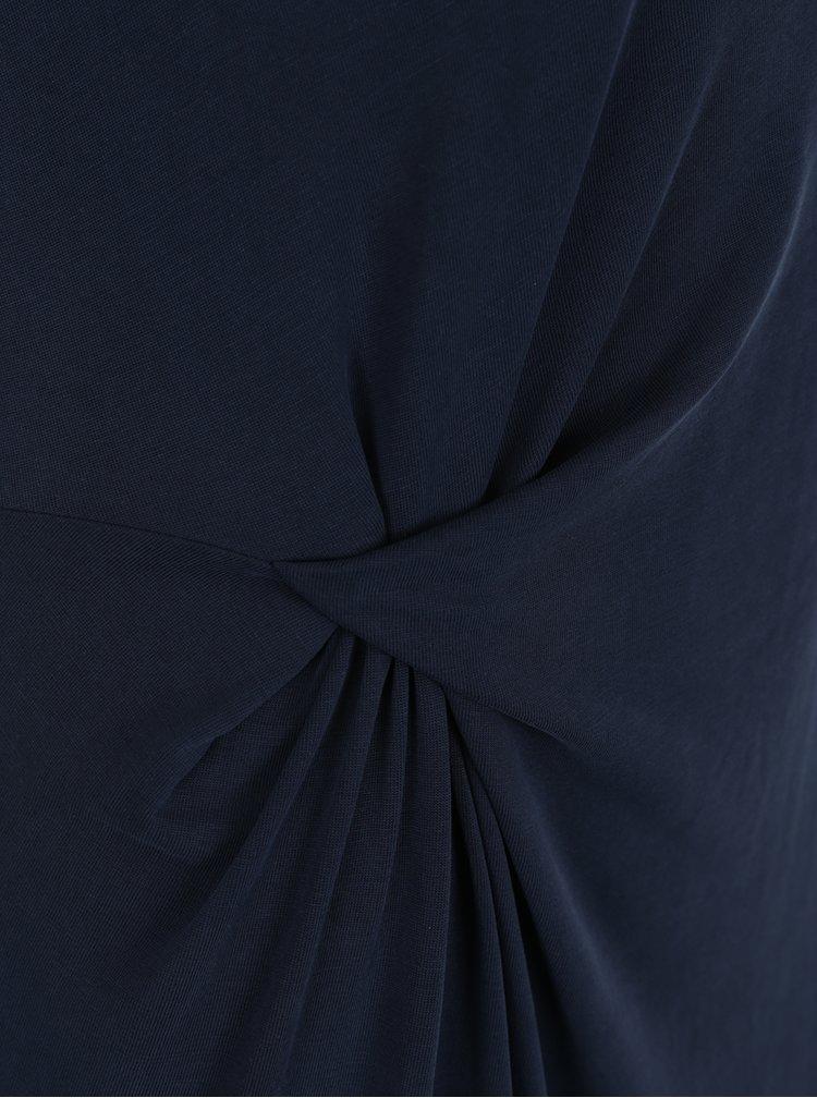 Rochie midi albastra Selected Femme Danique cu nod decorativ