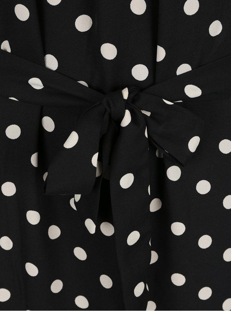 Rochie neagra cu buline si pliuri Vero Moda Nelli