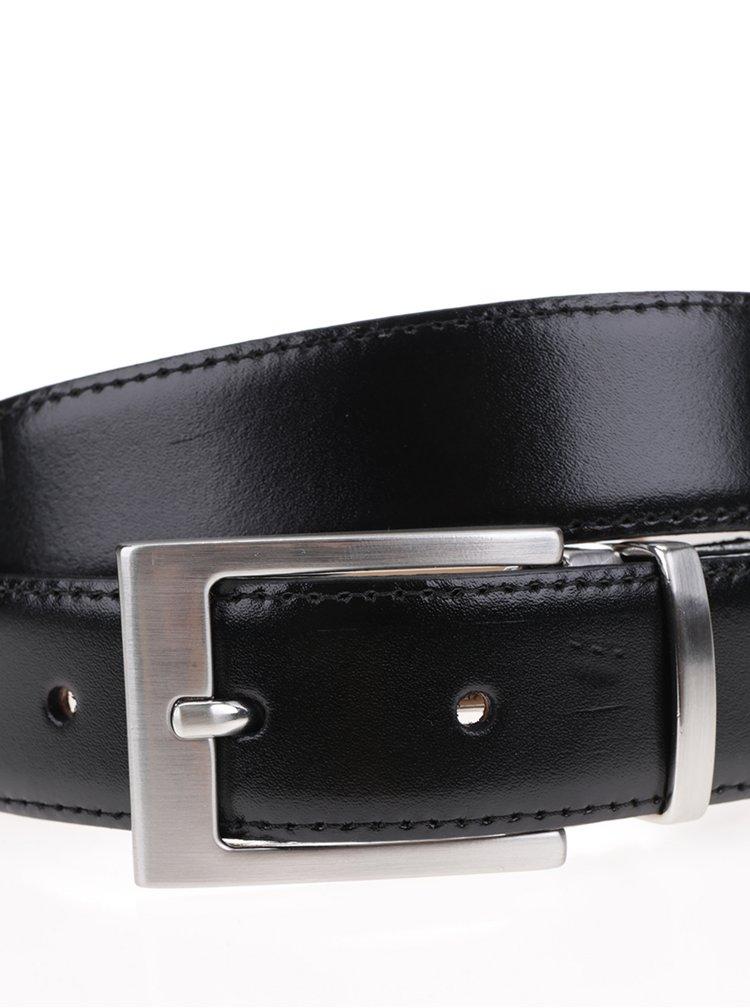 Curea neagră din piele Selected Homme Belt