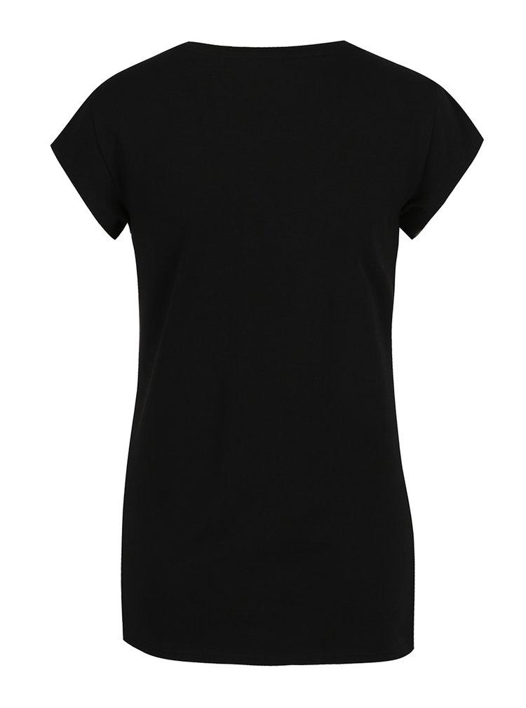 Tricou negru cu print multicolor ONLY Unicorn