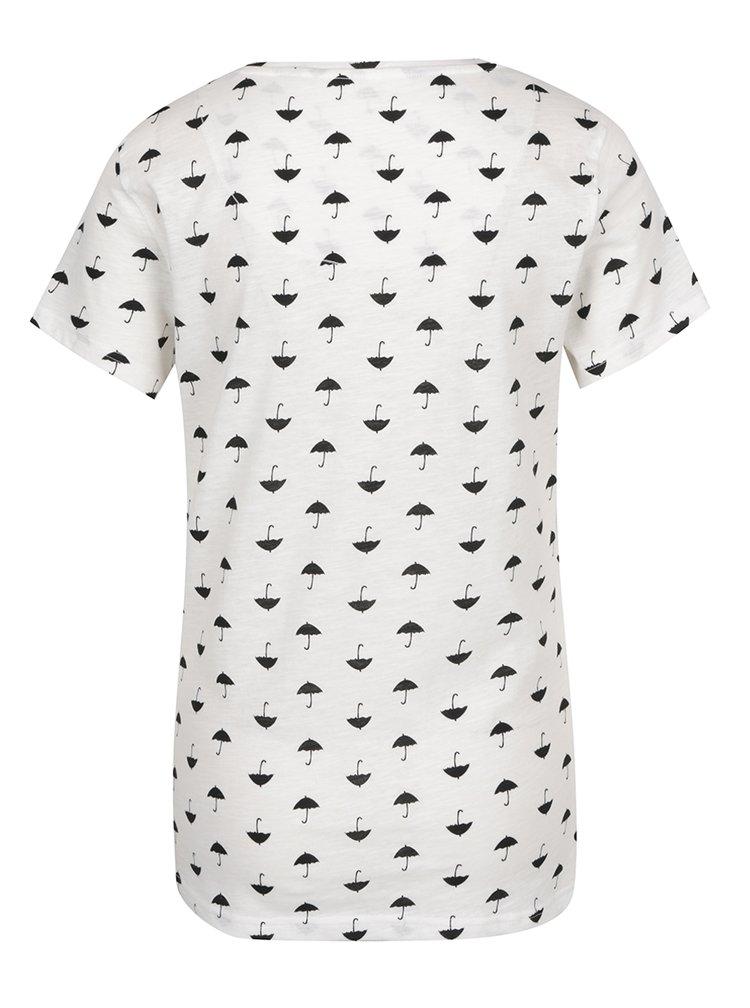 Bílé tričko s potiskem ONLY Tessa