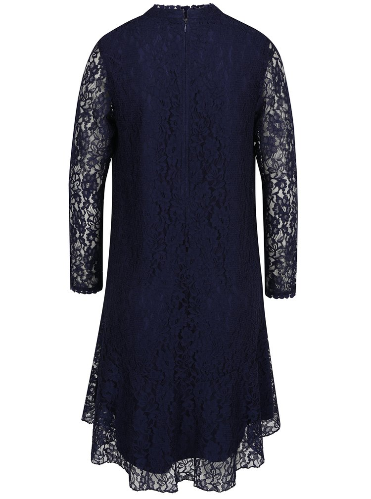 Tmavě modré krajkové šaty Little Mistress