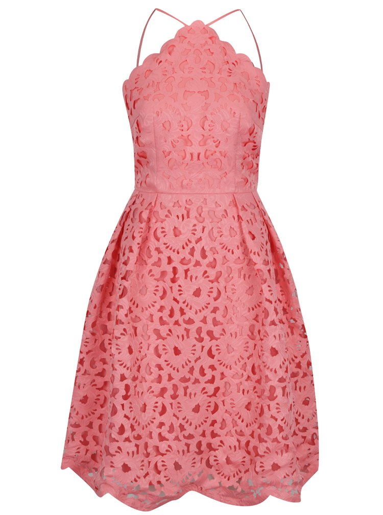 Rochie roz Chi Chi London din broderie