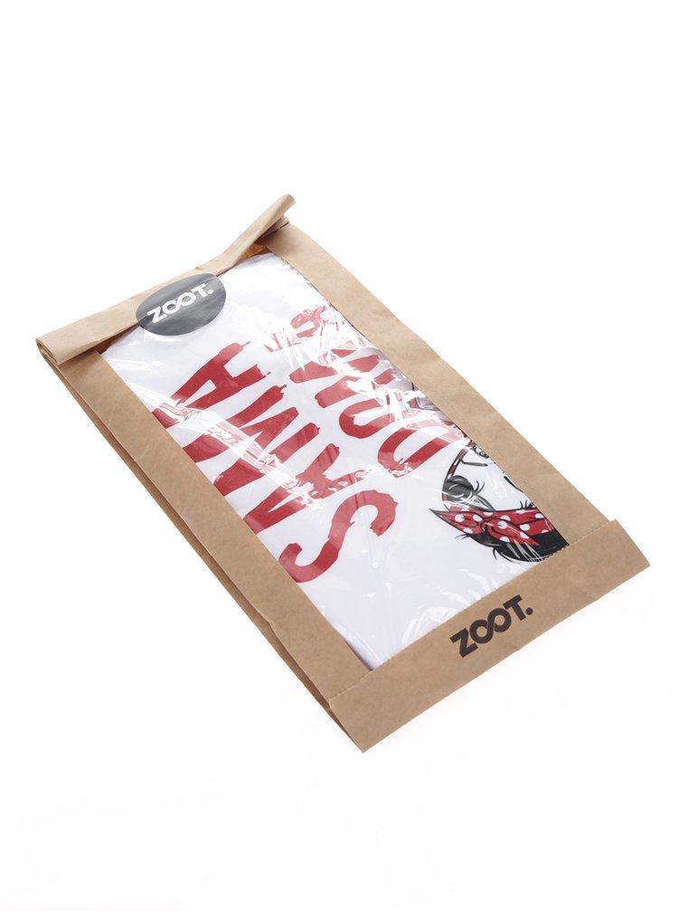 Bílé dámské tričko ZOOT Originál Sama doma