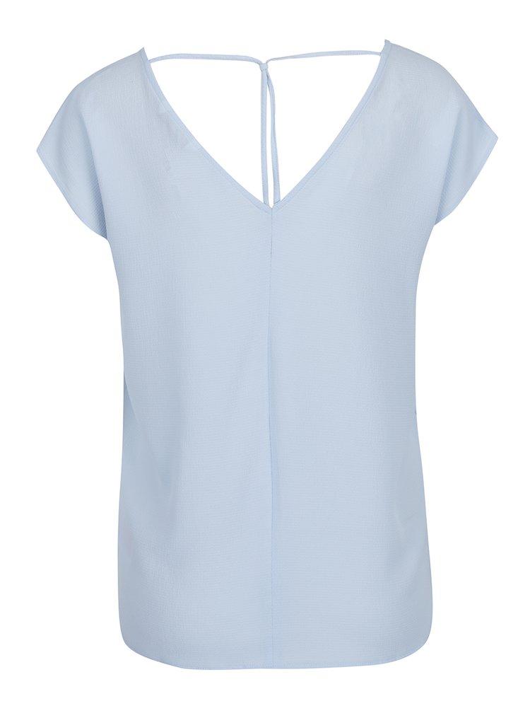 Modré tričko s véčkovým výstřihem ONLY Myrina